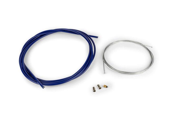 Pack câble de gaz universel 1,2mm x 2 mètres HQ Motoforce Racing bleu