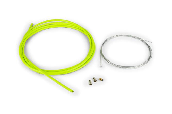 Pack câble de gaz universel 1,2mm x 2 mètres Motoforce Racing vert
