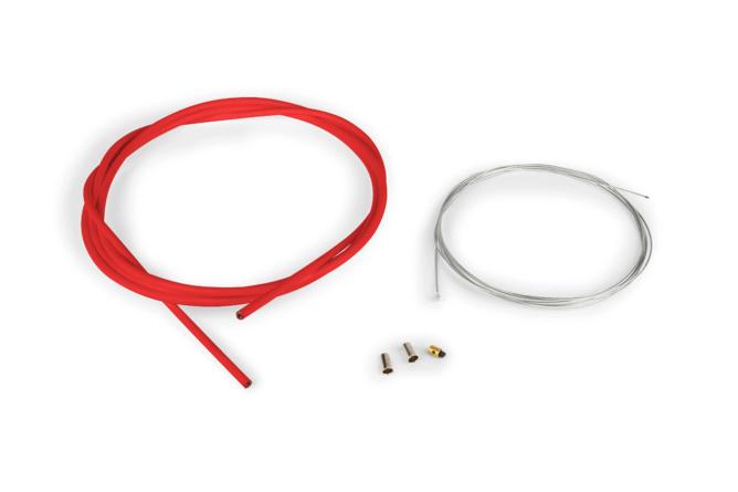 Pack câble de gaz universel 1,2mm x 2 mètres HQ Motoforce Racing rouge