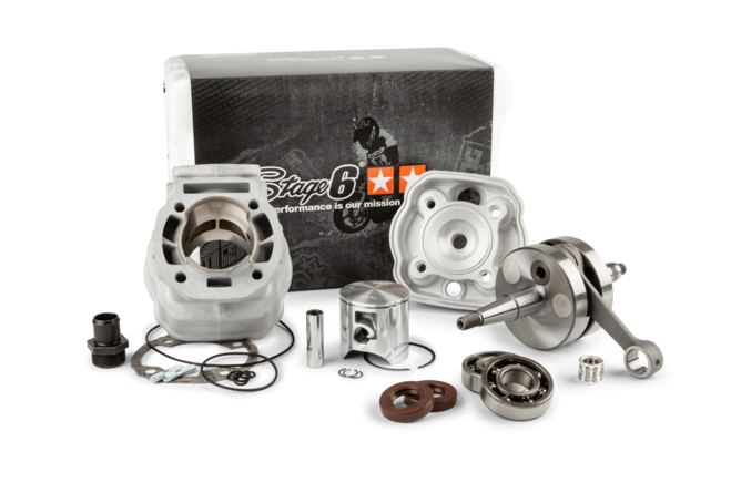 Motorpack Stage6 Big Racing 88cc Zylinder + Kurbelwelle 45mm Hub Derbi Euro3 / Euro4