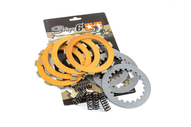 Disques d'embrayage 4 disques Stage6 Racing carbone Derbi