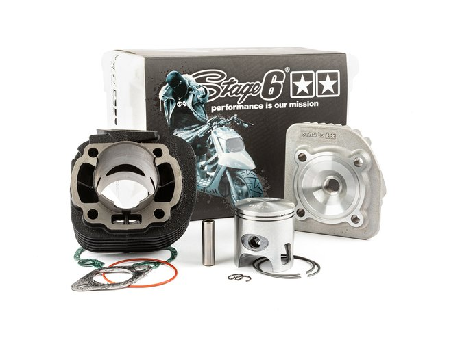 Cylindre culasse Stage6 70cc StreetRace fonte scooter CPI AC axe de 10mm