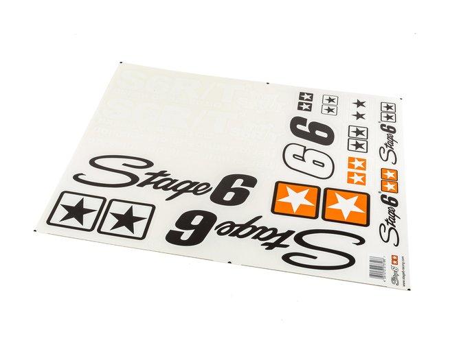 "Kit d'autocollants A2 Stage6 ""MKII"" Blanc"