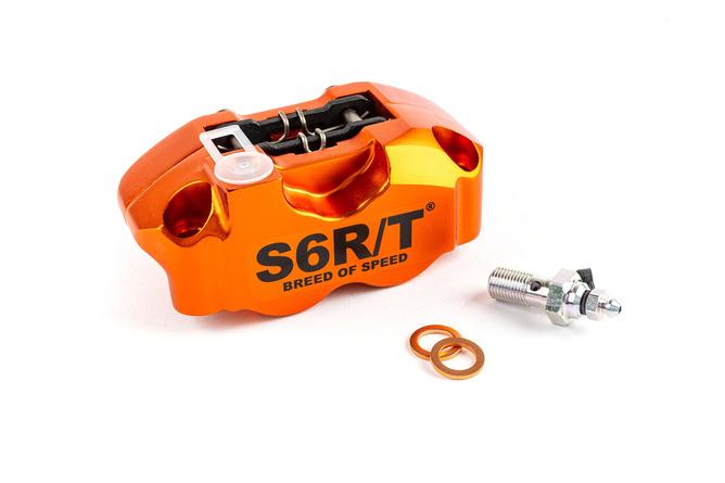 Stage6 R/T 4-Piston Brake Caliper radial w. brake pads orange