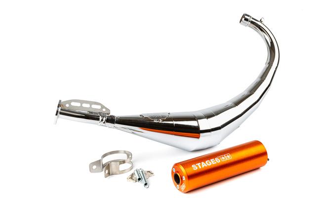 Auspuffanlage Stage6 Streetrace chrome CNC orange Derbi / Minarelli AM6