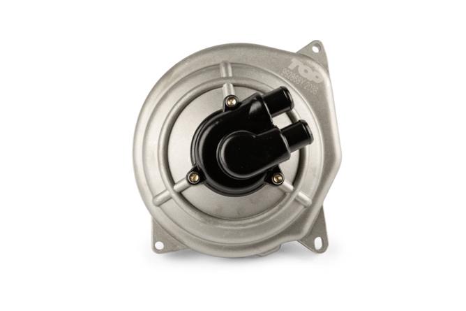 Carter de pompe à eau + mécanisme Top Performance argent / noir MBK Nitro / Aerox