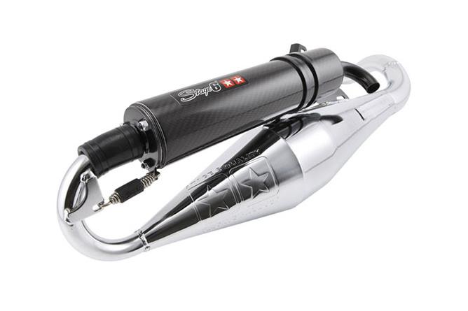 Pot d'échappement Stage6 Pro Replica Chromé/Carbone Piaggio NRG / Typhoon