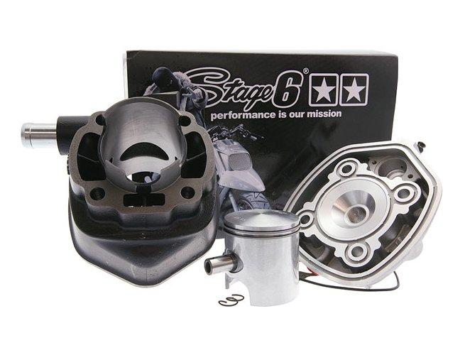Zylinderkit Stage6 Streetrace 70cc, 10mm Kolbenbolzen d=47mm, Minarelli liegend LC