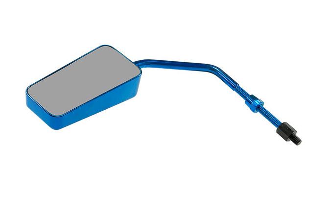Spiegel STR8 F1-Style M8 Gewinde inkl. Adapter Linksgewinde universal blau